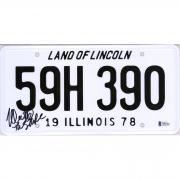 "Nick Castle Halloween Autographed Illinois License Plate with ""The Shape"" Inscription - BAS"