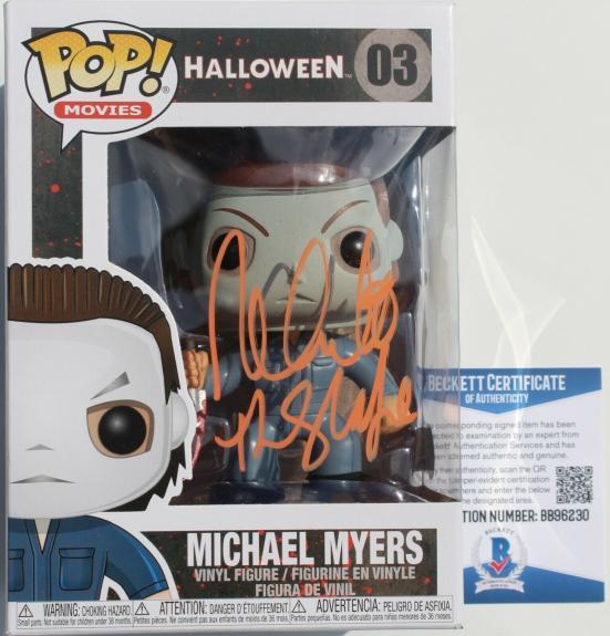 Nick Castle Halloween Signed Michael Meyers #03 Funko Pop w/Beckett COA BB96230