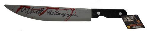 Nick Castle Halloween Signed Prop Knife Autograph Boogeyman Inscription Bas B