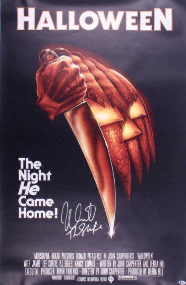 Nick Castle Signed Halloween Full Size Movie Poster Authentic Autograph Beckett