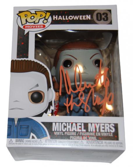 NICK CASTLE signed (HALLOWEEN) Michael Myers Funko Pop #03 BECKETT BAS BB96229