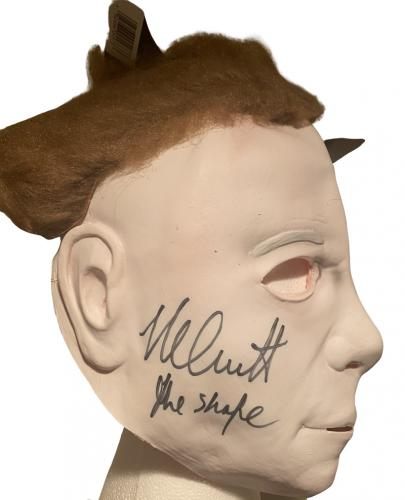 Nick Castle Signed Halloween Michael Myers The Shape Mask Autograph Beckett Coa