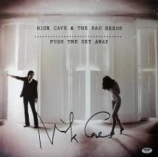 Nick Cave Push The Sky Away Signed 15x15 Poster Psa/dna #w46029