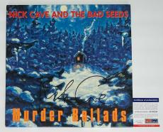 Nick Cave Signed The Bad Seeds Murder Ballads Record Album Psa Coa Ad48286