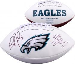 Nick Foles & LeSean McCoy Philadelphia Eagles Autographed White Panel Football