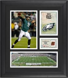 "Nick Foles Philadelphia Eagles Framed 15"" x 17"" Collage with Game-Used Football"