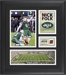 Nick Folk New York Jets Framed 15'' x 17'' Collage with Game-Used Football