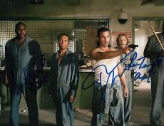 Nick Gomez Lew Temple and Vincent M. Ward signed The Walking Dead 8x10 w/coa #2