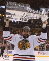 Nick Leddy Chicago Blackhawks 2013 Stanley Cup Champions Autographed 8'' x 10'' with Cup Photograph with 2013 SC Champs Inscription  - Mounted Memories