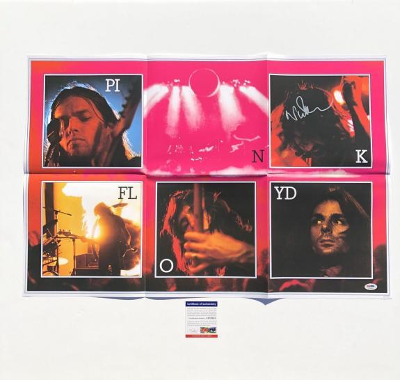 Nick Mason Signed Pink Floyd 20x30 Poster PSA/DNA Autographed