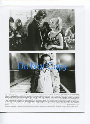 Nick Nolte Rosanna Arquette Martin Scorsese Life Lessons Movie Still Press Photo