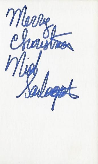 Nick Santagata Autographed Horse Racing Jockey 3x5 Inch Index Card - Guaranteed to pass BAS with Merry Christmas