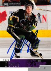 Nick Schultz autographed Hockey Card (CHL, Prince Albert) 2000 Upper Deck Prospects #51