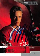Nick Schultz autographed Hockey Card (CHL, Prince Albert, Team Canada) 2000 Upper Deck Prospects #86