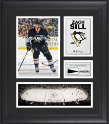 """Nick Spaling Pittsburgh Penguins Framed 15"""" x 17"""" Collage with Piece of Game-Used Puck"""