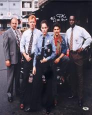 NICK TURTURRO SIGNED 16x20 NYPD BLUE TV SERIES PROMO CAST PHOTO w/ MAB HOLOGRAM