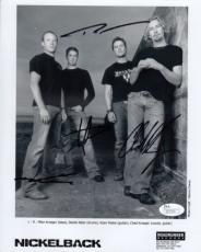 Nickelback Entire Group Autographed Signed 8x10 Photograph (JSA) RARE!