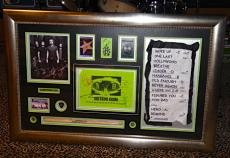 Nickelback signed autographed dressing room sign PSA DNA COA PASS GUITAR PICK