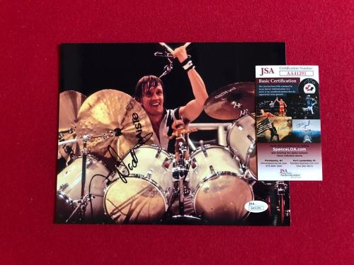 "Nicko McBrain  ""Autographed"" (JSA) 8"" x 10"" Photo (Iron Maiden)"