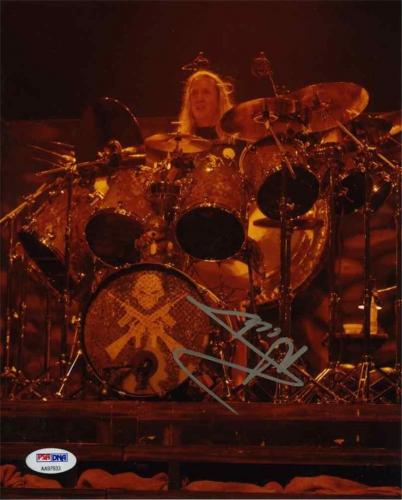 Nicko McBrain Iron Maiden Autographed Signed 8x10 Photo Certified PSA/DNA
