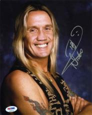 Nicko McBrain Iron Maiden Autographed Signed 8x10 Photo Certified PSA/DNA COA
