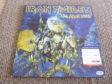 Nicko McBrain Iron Maiden Autographed Signed Live After Death LP PSA Certified