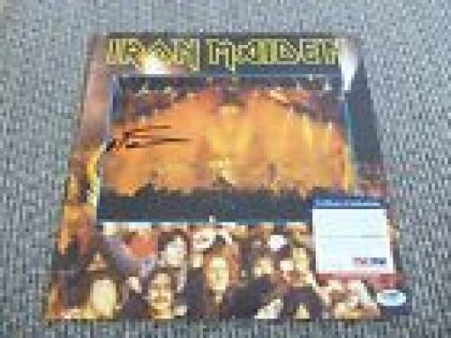 Nicko McBrain Iron Maiden Autographed Signed LP Booklet 12x12 PSA Certified