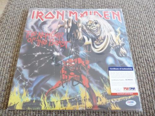 Nicko McBrain Iron Maiden Autographed Signed Number Of The Beast PSA Certified