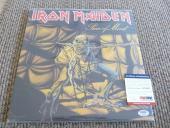Nicko McBrain Iron Maiden Autographed Signed Piece Mind LP Album PSA Certified
