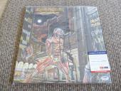 Nicko McBrain Iron Maiden Autographed Signed Somewhere In Time LP PSA Certified