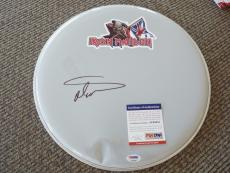 "Nicko McBrain Iron Maiden Trooper Signed Autographed PSA Certified 14"" Drumhead"