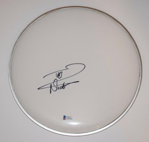 "Nicko McBrain Signed Autographed 10"" Drumhead IRON MAIDEN Beckett BAS COA"