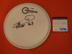 Nicko McBrain Signed Autographed Drumhead IRON MAIDEN Drummer PSA DNA COA