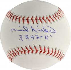 Phil Niekro Atlanta Braves Autographed Baseball with 3342 KS Inscription - Mounted Memories