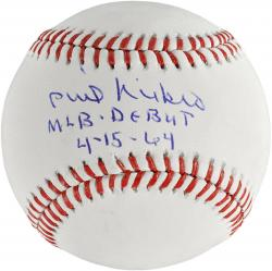 Phil Niekro Atlanta Braves Autographed Baseball with MLB Debut 4/15/64 Inscription - Mounted Memories