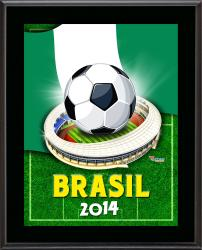 "Nigeria 2014 Brazil Sublimated 10.5"" x 13"" Plaque"