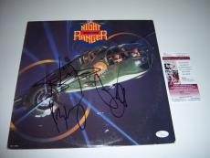 Night Ranger 7 Wishes 3sigs Jsa/coa Signed Lp Record Album