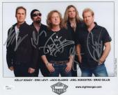 NIGHT RANGER AUTOGRAPHED 8x10 COLOR PHOTO       SIGNED BY WHOLE BAND       JSA
