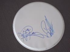 "Night Ranger Blades & Gillis Autographed Signed 13"" DRUMHEAD PSA Guaranteed"
