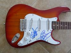 Night Ranger Brad Gillis & Jack Blades Signed Autographed Guitar PSA Guaranteed