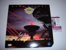 Night Ranger Dawn Patrol 3sigs Jsa/coa Signed Lp Record Album