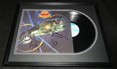Night Ranger Group Signed Framed 1985 Seven Wishes Record Album Display