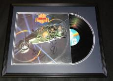 Night Ranger Group Signed Framed 1985 Seven Wishes Record Album Display B