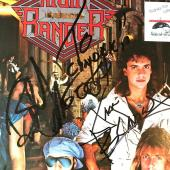 Night Ranger Rock Group Signed Midnight Madness Lp Jacket Autograph