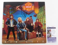 Night Ranger Signed LP Record Album Big Life w/ 3 JSA AUTOS