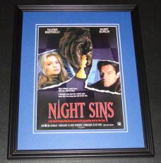 Night Sins 1997 11x14 Framed ORIGINAL Vintage Advertisement Poster V Bertinelli