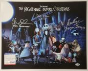Nightmare Before Christmas Cast (3) signed 16x20 Photo Sarandon O'hara PSA COA