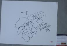 NIGHTMARE ON ELM STREET! Robert Englund SKETCH AND SIGNED Freddy 11x14 Board PSA