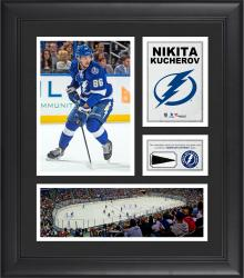 "Nikita Kucherov Tampa Bay Lightning Framed 15"" x 17"" Collage with Piece of Game-Used Puck"