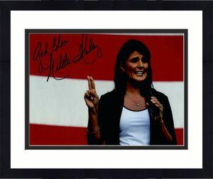 Nikki Haley Signed Autograph 8x10 Photo - Donald Trump Un Ambassador, 2024?